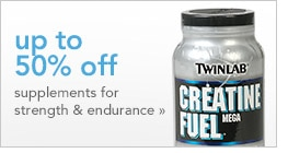 up to 50% off supplements for strength & endurance