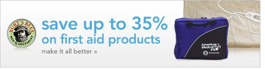 save up to 35 percent on first aid products