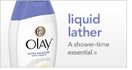 liquid lather, a shower time essential