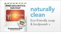 eco-friendly soap and bodywash