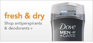fresh and dry | shop antiperspirants and deodorants