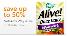 save up to 50% on Nature's Way Alive