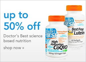 Up to 50% off Doctor's Best science based nutrition