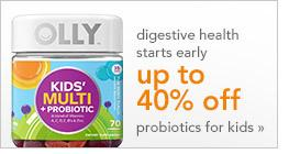digestive health starts early | up to 40% off probiotics for kids
