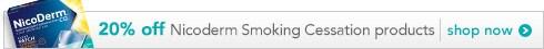 20% off Nicoderm Smoking Cessation products, shop now