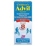 Children's Advil Ibuprofen Fever Reducer/Pain Reliever Oral Suspension, Grape