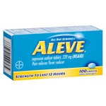 Aleve All Day Strong Pain Reliever Fever Reducer, Caplets- 100 ea