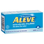 Aleve All Day Strong Pain Reliever, Fever Reducer, Tablets- 100 ea