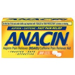 Anacin Pain Reliever, Coated Tablets- 300 ea