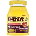 Genuine Bayer Aspirin Pain Reliever, 325mg Tablets, Easy Open