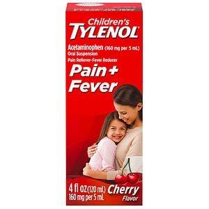 Children's TYLENOL Pain & Fever, Ages 2-11, Cherry Blast- 4 oz