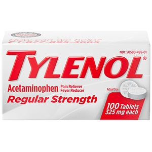 TYLENOL Regular Strength Pain Reliever & Fever Reducer, Tablets- 100 ea