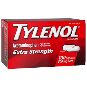 TYLENOL Extra Strength Pain Reliever & Fever Reducer 500 mg, Caplets- 100 ea