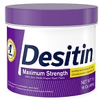 Desitin Diaper Rash Paste, Maximum Strength Original Paste- 16 oz