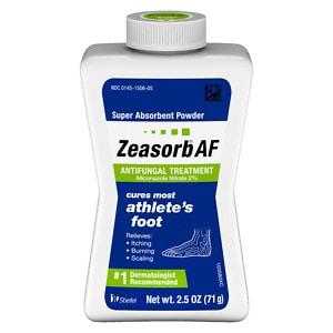 Zeasorb Super Absorbent Powder Antifungal Treatment, Athlete's Foot- 2.5 oz