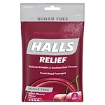 Halls Sugar Free Cough Suppressant Drops, Black Cherry