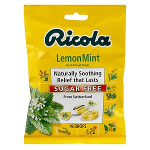 Ricola Herb Throat Drops, Sugar Free, Lemon Mint&nbsp;