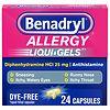 Benadryl Dye-Free Allergy Relief, Liqui-gels- 24 capsules