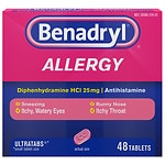 Benadryl Allergy Relief, Ultratab Tablets- 48 ea