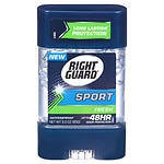 Right Guard Sport 3-D Odor Defense, Antiperspirant & Deodorant Clear Gel, Fresh Scent- 3 oz