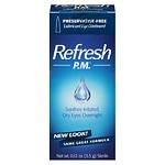 Refresh Sensitive, Preservative-free PM Lubricant Eye Ointment