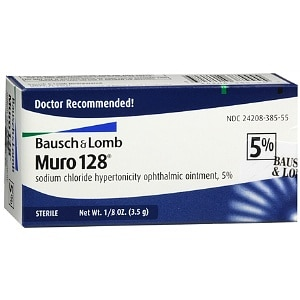 Muro 128 5% Sterile Ophthalmic Ointment- .12 oz