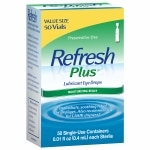 Refresh Plus Lubricant Eye Drops, Single-Use Containers- 50 ea