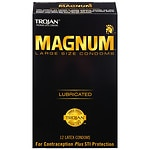 Trojan Magnum Lubricated Latex Condoms, Large- 12 ea