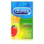 Durex Lubricated Latex Condoms, Tropical Premium