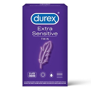 Durex Lubricated Latex Condoms - Extra Sensitive- 12 ea