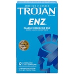 Trojan-Enz Lubricated Latex Condoms