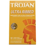 Trojan Ultra Ribbed Lubricated Latex Condoms