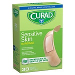 Curad Sensitive Skin Gentle Fabric Sterile Latex-Free Bandages, 3/4 x 3 inch (19 x 76 mm)
