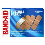 Band-Aid Flexible Fabric Bandages, All One Size (1 Inch)- 100 ea
