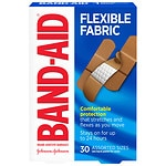 Band-Aid Flexible Fabric Bandages, Assorted- 30 ea