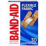 Band-Aid Flexible Fabric Bandages, Assorted- 30 ea