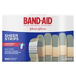 Band-Aid Sheer Comfort Sheer Adhesive Bandages, Regular