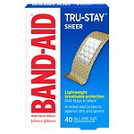 Band-Aid Comfort Sheer Adhesive Bandages, 3/4 in x 3 in