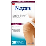 Nexcare Steri-Strip Skin Closure Adhesive Surgical Tape Strip- 30 ea