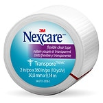 Nexcare First Aid Tape, Transpore Clear, 1 in. x 360 in.