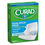 Curad Non-Stick Pads with Adhesive Tabs, 3 x 4 in- 10 ea