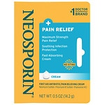 Neosporin Plus Pain Relief, Maximum Strength, First Aid Antibiotic Cream- .5 oz