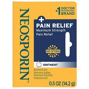 Neosporin Plus Pain Relief, Maximum Strength, First Aid Antibiotic Ointment