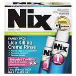 Nix Cream Rinse Lice Treatment, Multi Pack