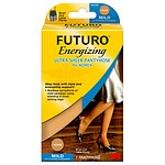 FUTURO Energizing Ultra Sheer Pantyhose for Women, Mild, Plus
