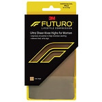 FUTURO Energizing Ultra Sheer Knee Highs for Women, Mild, Nude, Medium- 1 pr