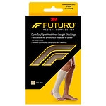 FUTURO Therapeutic Support Open Toe/Heel, Knee High, Firm Compression, Beige, XL- 1 ea