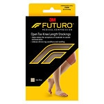 FUTURO Knee-High, Firm Support Medical Hosiery, Open Toe, Beige, Large- 1 pr