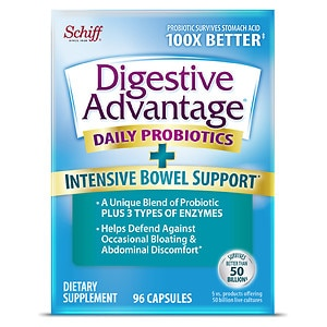 Schiff Digestive Advantage Intensive Bowel Support, 96 ea