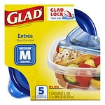 Gladware Food Storage Containers, Entree, 25 oz